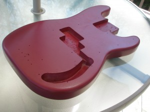 PBass Guitar Body Painting