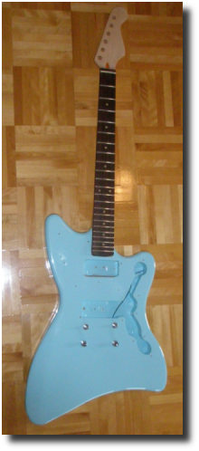 Blue JM guitar body