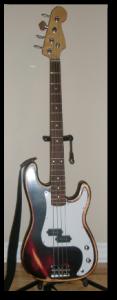 diy p-bass guitar