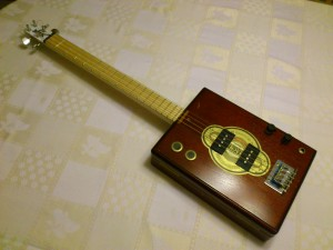 P-Bass Cigar Box Guitar